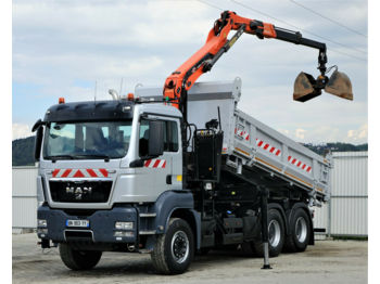 MAN TGS 33.400 Kipper 5,20 m + Kran *6x4*!  - tipper