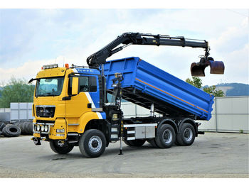 MAN TGS 33.440 Kipper 5,10m+Bordmatic+ Kran *6x6!  - tipper