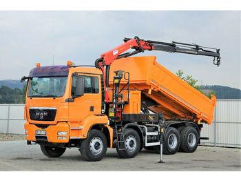 Φορτηγό ανατρεπόμενο MAN TGS 35.400 Kipper 4,70m + Kran* 8x4 !!!