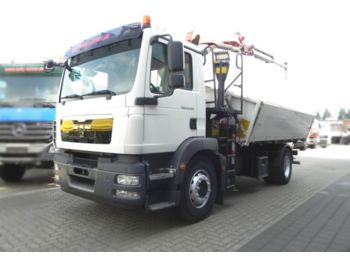 MAN TG-M 18.290 4x2 2-Achs Kipper Kran 11m/to., Grei  - tipper
