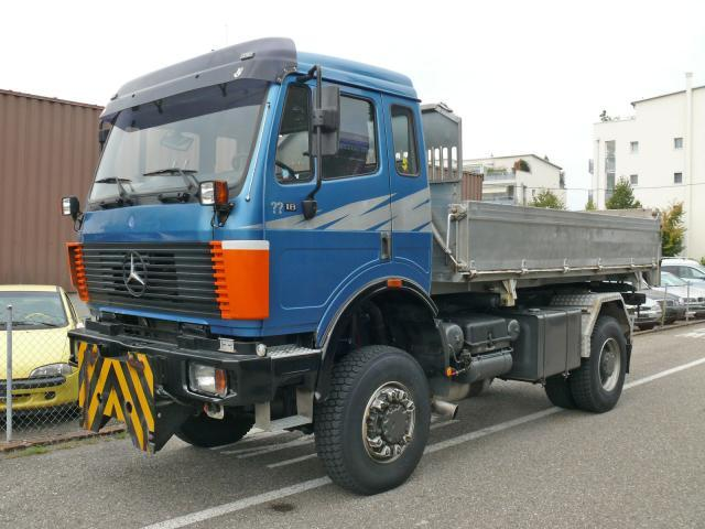 Mercedes benz 1831 4x4 tipper from switzerland for sale at for Mercedes benz truck 4x4