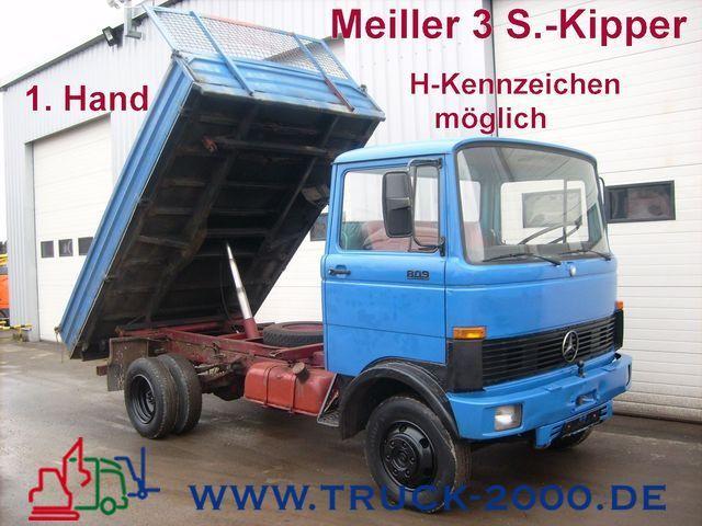 mercedes benz 809 d meiller 3seiten oldtimerumweltzonen frei tipper rh truck1 eu Manual Mercedes Clutch Manual Mercedes Clutch