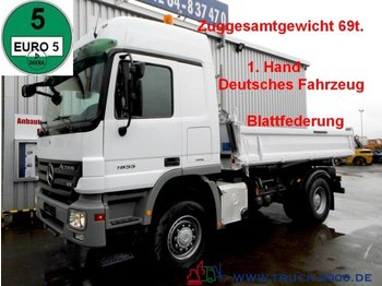 Tipper Mercedes-Benz 1855 4x4 V8 3S. 69t.ZugGesamt Blatt leaf springs