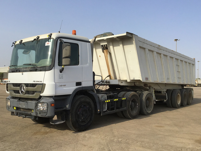 Mercedes Benz Actros 3848 Tipper From United Arab Emirates For Sale At Truck1 Id 3174642