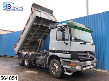 Tipper Mercedes-Benz Actros 3331 6x4, Manual, Steel suspension, 13 Tons axles, Airco, Analoge tachograaf