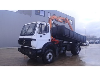 Mercedes-Benz SK 2031 (BIG AXLE / FULL STEEL SUSPENSION / V6-engine / CRANE) - tipper
