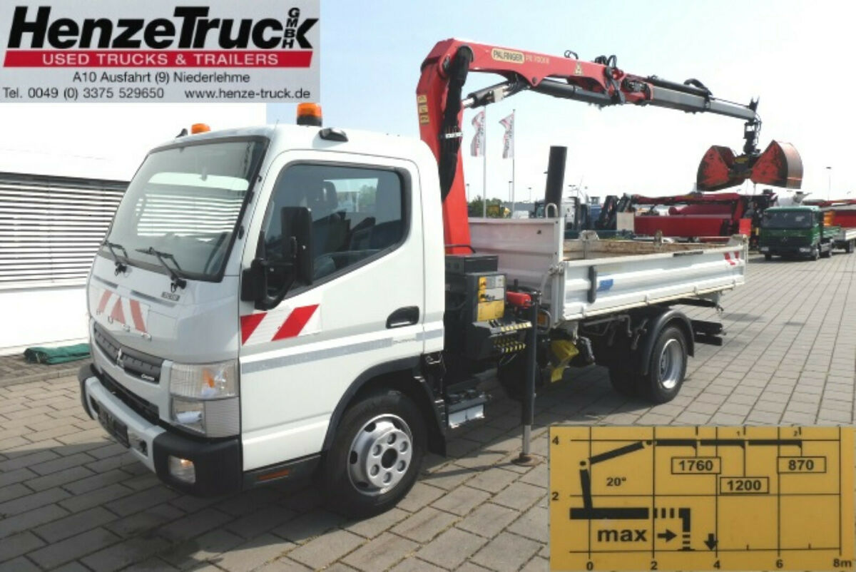 Mitsubishi Canter Fuso 7c18 2 Achs Kipper Kran Palfinger Pk Tipper From Germany For Sale At Truck1 Id 3906829
