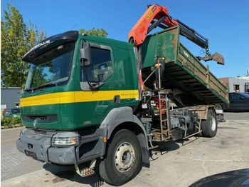 Renault KERAX 320 DCI 4X2 MANUAL FULL STEEL + PALFINGER  - tipper