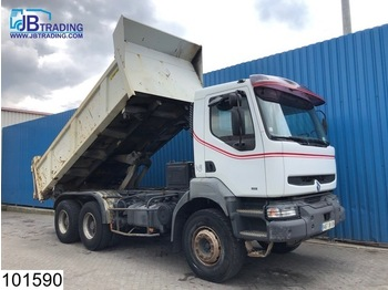 Renault Kerax 340 6x4, EURO 2, Manual, Steel suspension, Airco, Hub reduction - tipper