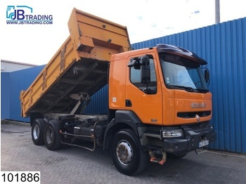 Tipper Renault Kerax 370 6x4, Manual, Airco, Steel suspension, Analoge tachograaf, Hub reduction
