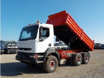 Tipper Renault Kerax 385 (GRAND PONT / SUSPENSION LAMES / POMPE MANUELLE)