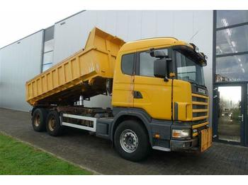 Scania 124.400 6X2 DUMPER MANUAL FULL STEEL  - tipper