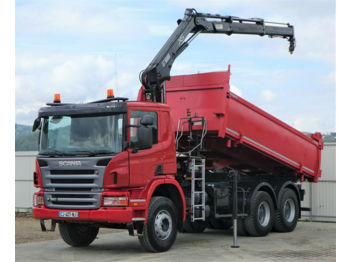 Scania P380 Kipper + Bordmatic 5,00m + Kran *6x4*  - tipper