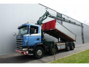 Scania R124.400 8X4 MANUAL FULL STEEL HUB REDUCTION HIA  - tipper