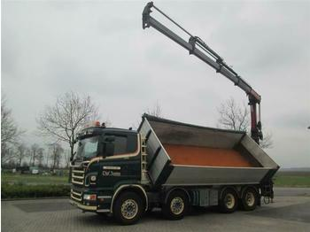 Scania R560 V8 8X4 WITH HMF1820 K4 EURO 4  - tipper