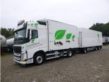 Volvo FH13 500 Euro 6 4x2 tipper + walking floor drawbar trailer - tipper