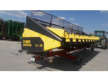 BISO SUNPOWER 12/70 - echipament recoltat floarea soarelui