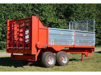 Roltrans Miststreuer 8 T/ Rorzutnik obornika - maşină de împrăştiat gunoi de grajd