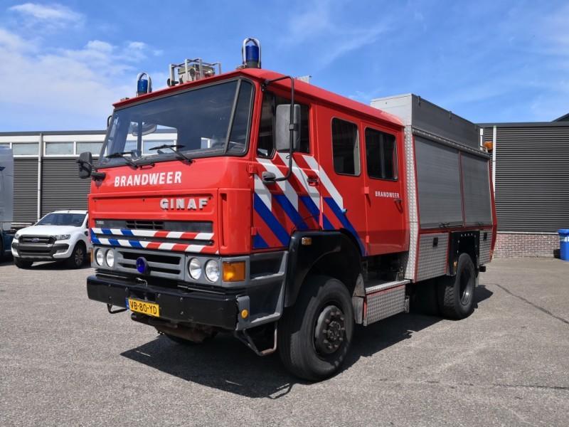 Fire truck Ginaf 4x4 FireTruck - Double Cabin - Rosenbauer Pump - Hoses -  2800L Tank - Incl Equipment - 05/2019 APK - Truck1 ID: 3078031