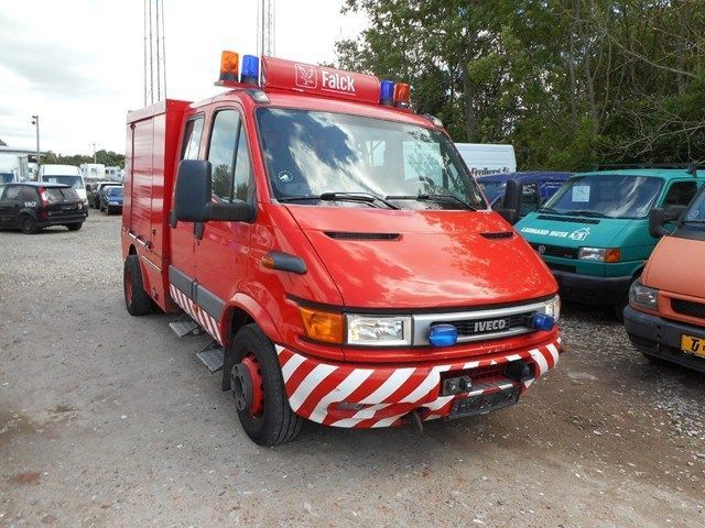 Accident Cars For Sale In Denmark: Iveco Daily 65C15 3,0 Doka Fire Truck From Denmark For