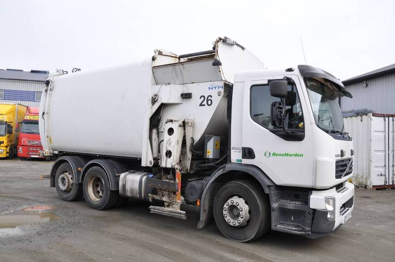 volvo fe-280 6*2 euro 5 garbage truck from sweden for sale at