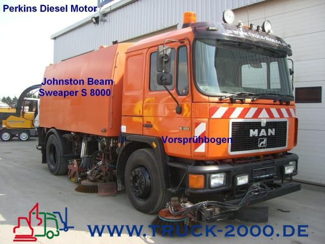 MAN 18.222 Johnston Bean S-8000 Kehrmaschine Sweeper ...