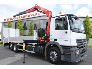 MERCEDES-BENZ ACTROS 2532 L CRANE FASSI 150A.22 8 M CAR CARRIER TOW TRUCK - tow truck