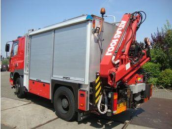 Släck/ räddningsvagn DAF DAF75 4X4 MET 10 TON HIABKRAAN EN LIER GENERATOR
