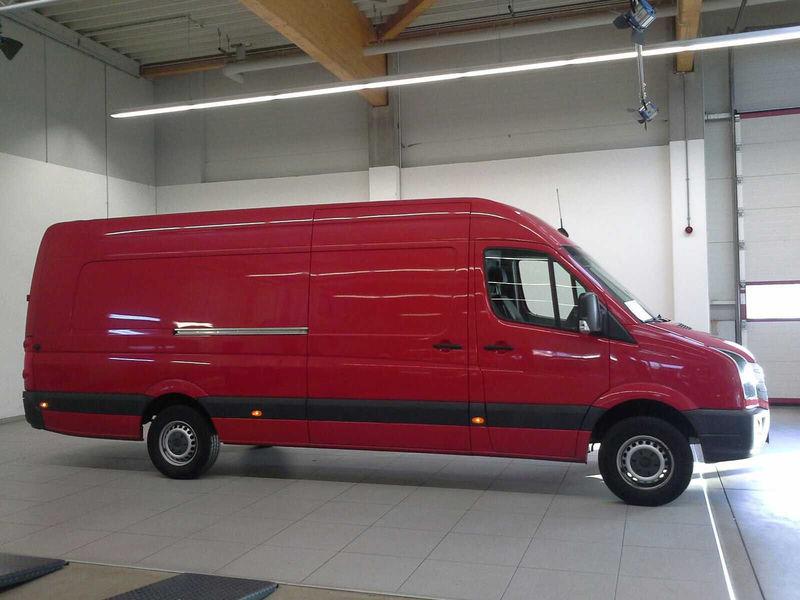 box van volkswagen crafter 35 l maxi ac navi transport paket truck1 id 3129846
