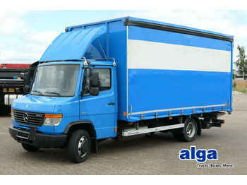 Curtain side van Mercedes-Benz 816 D, Schiebeplane, BÄR LBW, 5.030mm lang, Luft