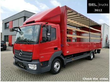 Mercedes-Benz Atego 818 / Ladebordwand / German  - curtain side van