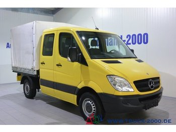 Curtain side van Mercedes-Benz Sprinter 215 CDI Doka 150 PS 6-Sitzer AHK 1. Hd