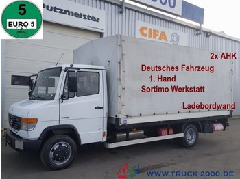 Curtain side van Mercedes-Benz Vario 816 Sortimo Einbau 2 x AHK 1.Hd Autom.
