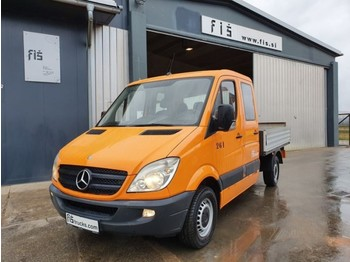 Mercedes Benz 313 CDI double cab - stake body - ac - open body delivery van