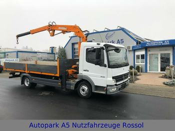 Mercedes-Benz 816 Pritsche Kran Atlas AK 3008  - open body delivery van