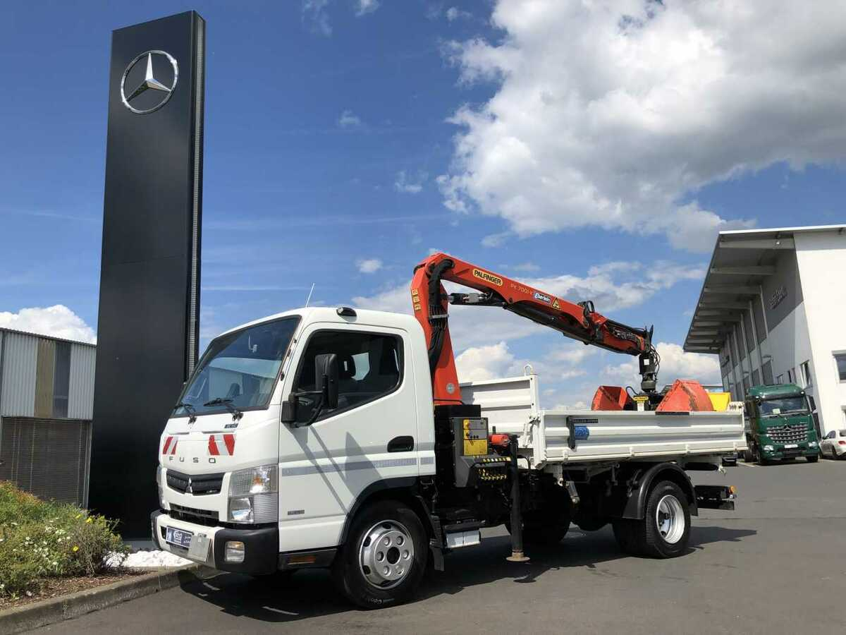 Fuso Canter 7c18 4x2 Kipper Kran Greifer Euro 6 Tipper Van From Germany For Sale At Truck1 Id 3779367