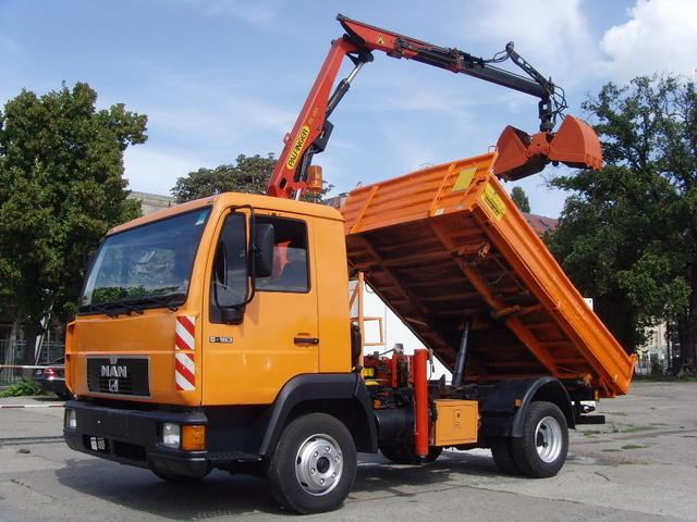 Man 8 163 Dreiseiten Kipper Kran Palfinger Pk5000 Tipper Van From Germany For Sale At Truck1 Id 698142