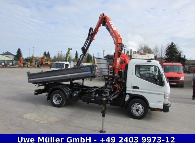 New Mitsubishi Canter 7c18 Kran Hubkraft Bei 7 8 M Ca 600 Kg Tipper Van For Sale From Germany At Truck1 Id 2049064