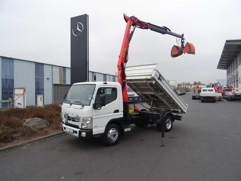 Mitsubishi Fuso Canter 7c18 4x2 Kipper Kran Greifer Tipper Van From Germany For Sale At Truck1 Id 3300411