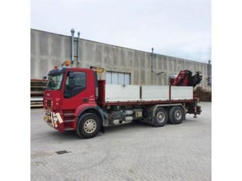 Бортова вантажівка Iveco Stralis - Fassi 215