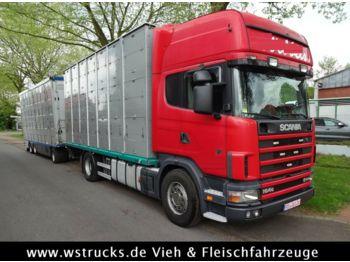 Для перевезення худоби вантажівка Scania 164/580 Topline 2 Stock V8