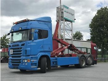 Scania - R 500 V 8 Hyva Abroller 20 60 S - гаковий мультиліфт вантажівка