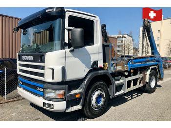 Scania P114   GB 340  - скіповий навантажувач вантажівка