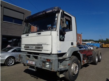 Iveco Eurotrakker 260 E 35 6x4 manual lames french - chassis vrachtwagen