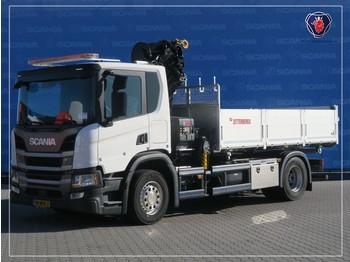 Scania P280 B4X2NA | HIAB CRANE 3-WAY TIPPER | 7553KM - chassis vrachtwagen