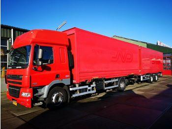 Containertransporter/ wissellaadbak vrachtwagen DAF CF 85.410 SC Euro 5 + Van Hool AHW | BDF Systeem