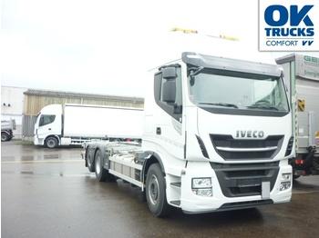 Iveco Stralis AS260S48YFSCM - containertransporter/ wissellaadbak vrachtwagen