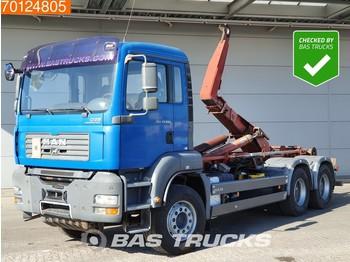 MAN TGA 33.480 6X4 Manual Big-Axle Steelsuspension Euro 4 - containertransporter/ wissellaadbak vrachtwagen