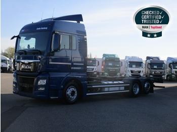 MAN TGX 26.480 6X2-2 LL, Euro 6,XLX,Intar.,Navi,2Tanks - containertransporter/ wissellaadbak vrachtwagen