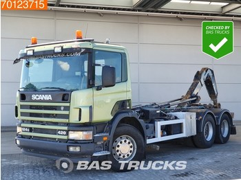 Containertransporter/ wissellaadbak vrachtwagen Scania P124G 420 6X2 Manual Liftachse Hydraulik Euro 3